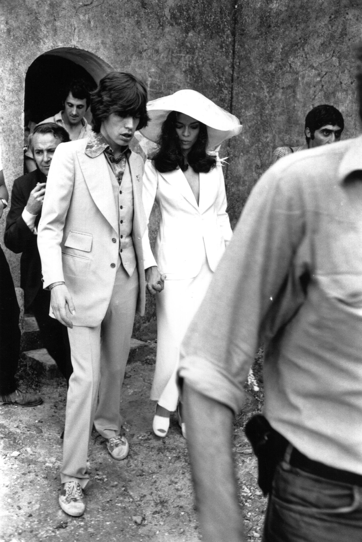 Mick Jagger y su mujer Bianca, tras su boda en ST. Tropez