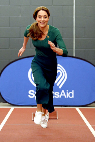 Kate Middleton haciendo deporte.