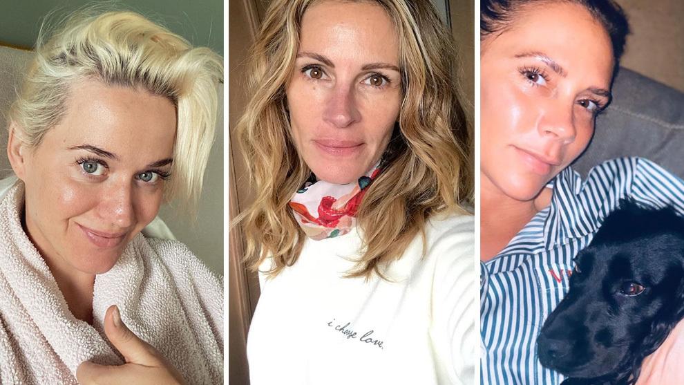 Las celebrities muestran su lado más natural durante la cuarentena.