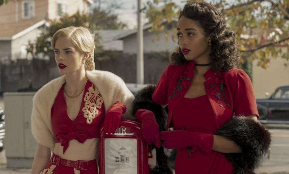 """Dos de las protagonistas de """"Hollywood"""", la nueva serie de Netflix que..."""