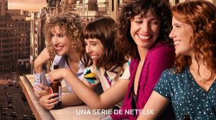 """Cartel de la serie """"Valeria"""", que llega a Netflix el 8 de mayo."""