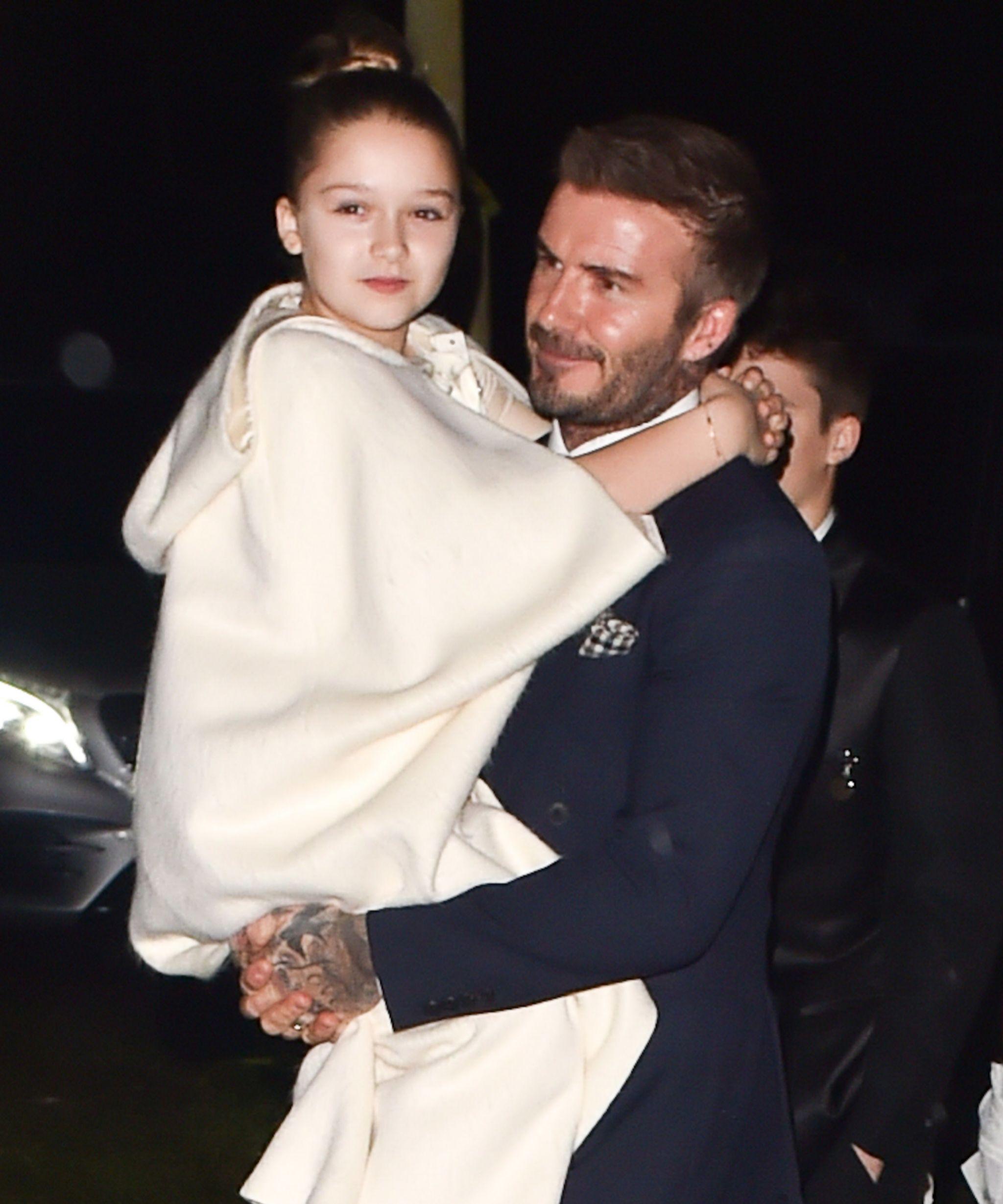 David Beckam y su hija Harper, el pasado mes de diciembre