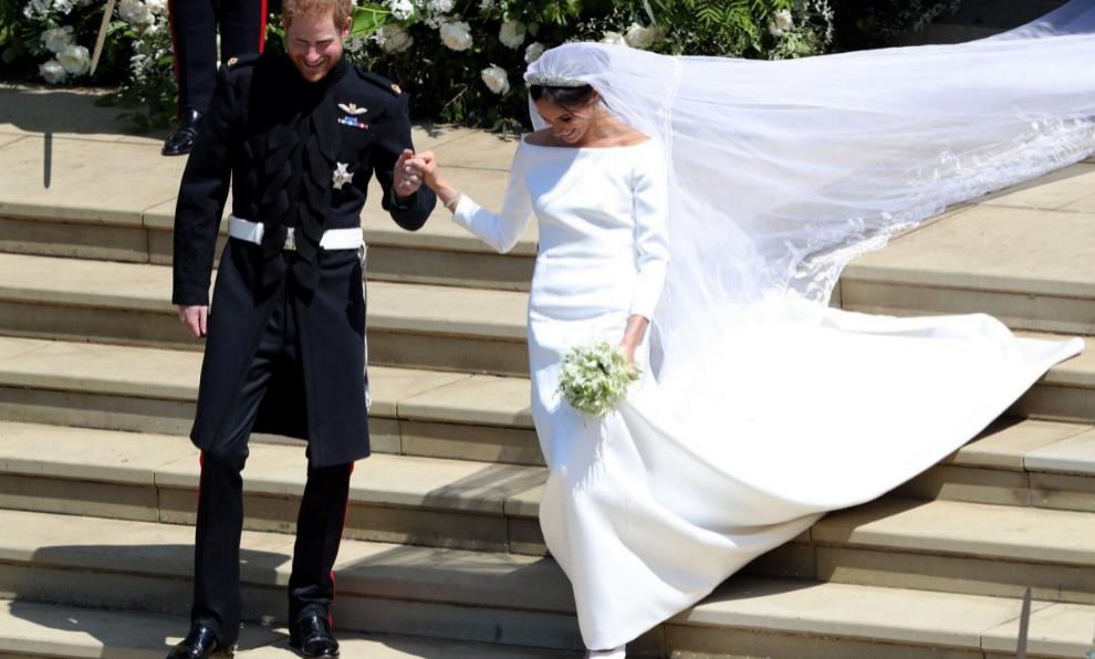 Meghan Markle y el prícnipe Harry el día de su boda.