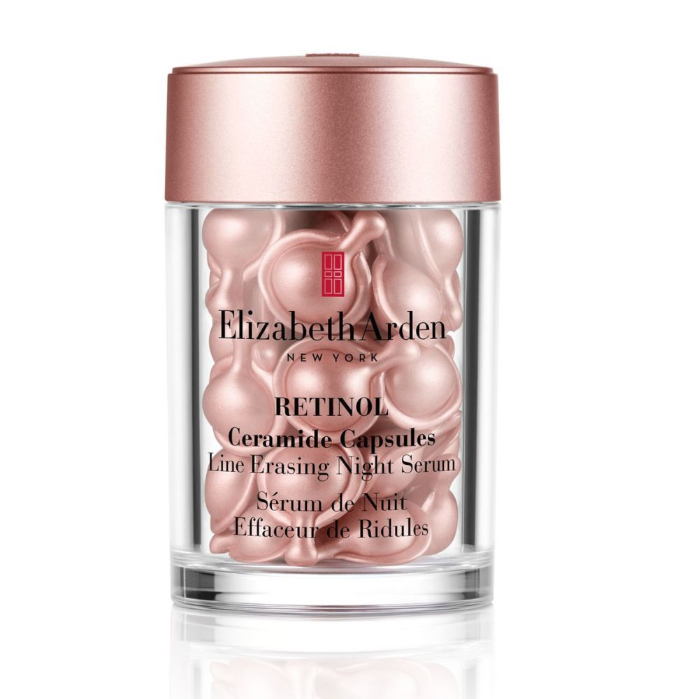 Sérum de noche con retinol de Elizabeth Arden (58 euros, 30 cápsulas). Mejora la textura, el tono y la luminosidad de la piel.