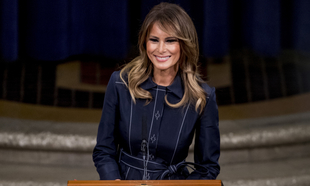 Melania Trump durante una conferencia en Washington (marzo 2020).