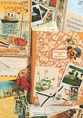 Interior del libro On flowers. Amy Merrick ilustra sus páginas con múltiples collages propios.