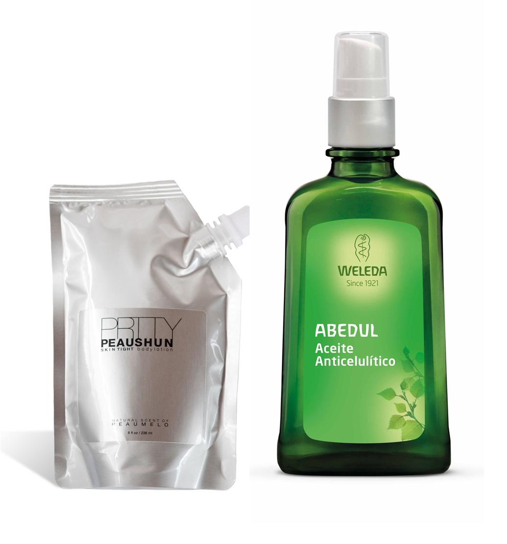 1. Crema coloreada SKIN tight Body Lotion de PRTTY PEAUSHUN. 2.Aceite...
