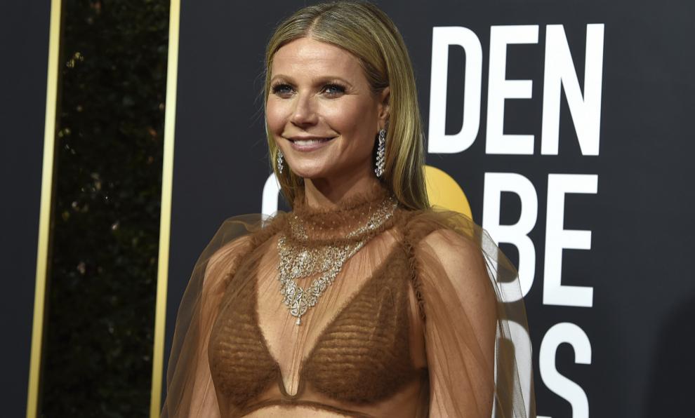 Gwyneth Paltrow en los últimos Globos de Oro donde lució un vestido...