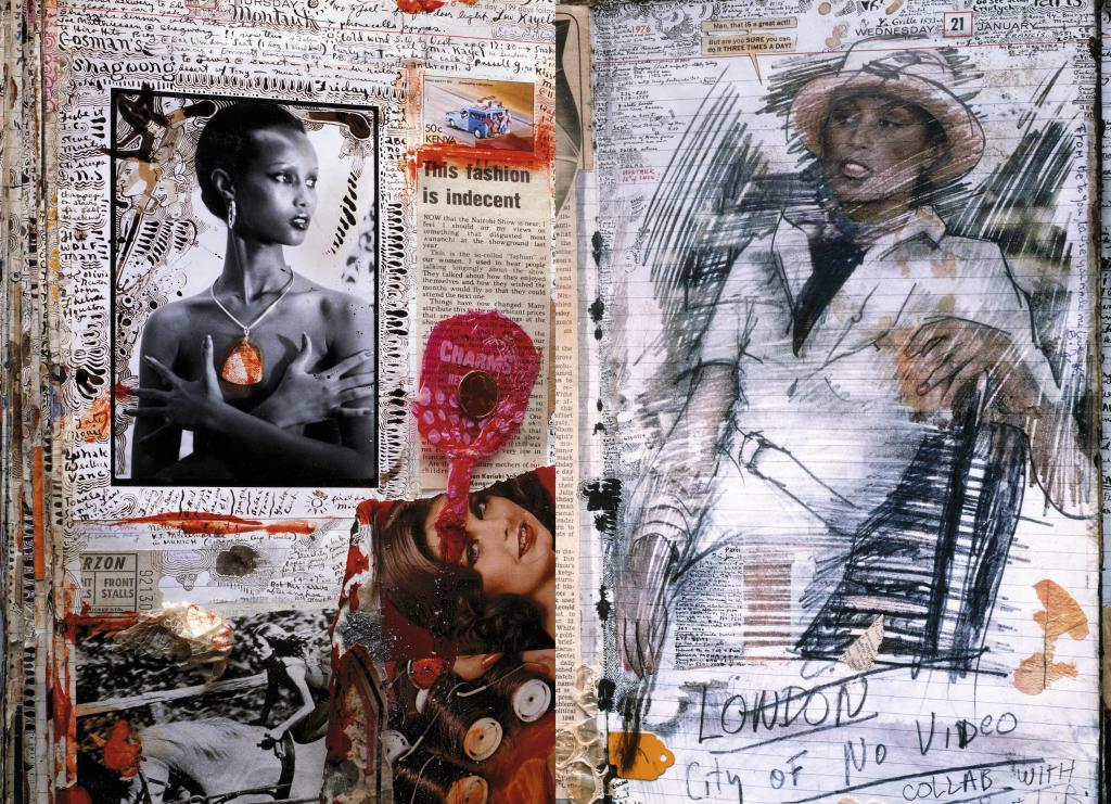 Uno de sus famosos collages que son páginas de su diario. En 1978 con...