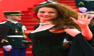 En la alfombra roja del Festival de Cannes, en 2001.