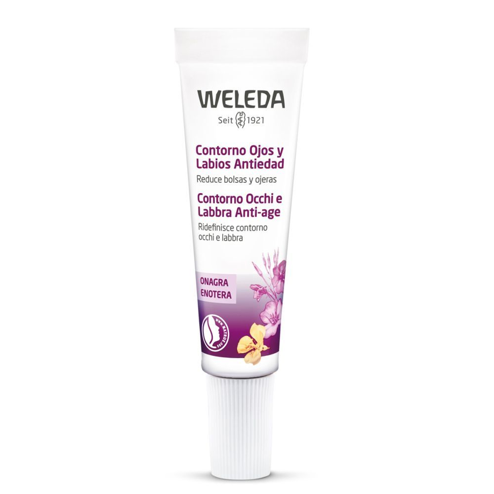 La reina Letizia es fan de la cosmética eco y por eso, no nos extrañaría que fuera fan de un contorno de ojos y labios para nutrir y redensificar su piel como éste con onagra de Weleda (30,85 euros). En farmacias.