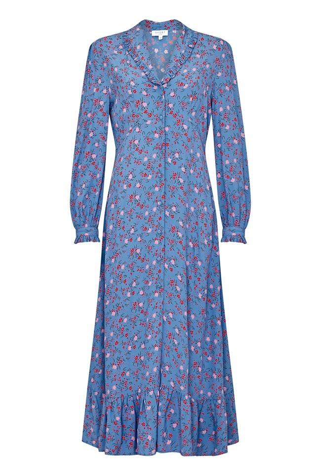 El vestido Anouk de la firma Ghost London que llevó Kate Middleton y ya está agotado.