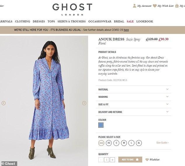 Aunque ya no está disponible en la página web, tenía un precio rebajado de 90,30 libras.