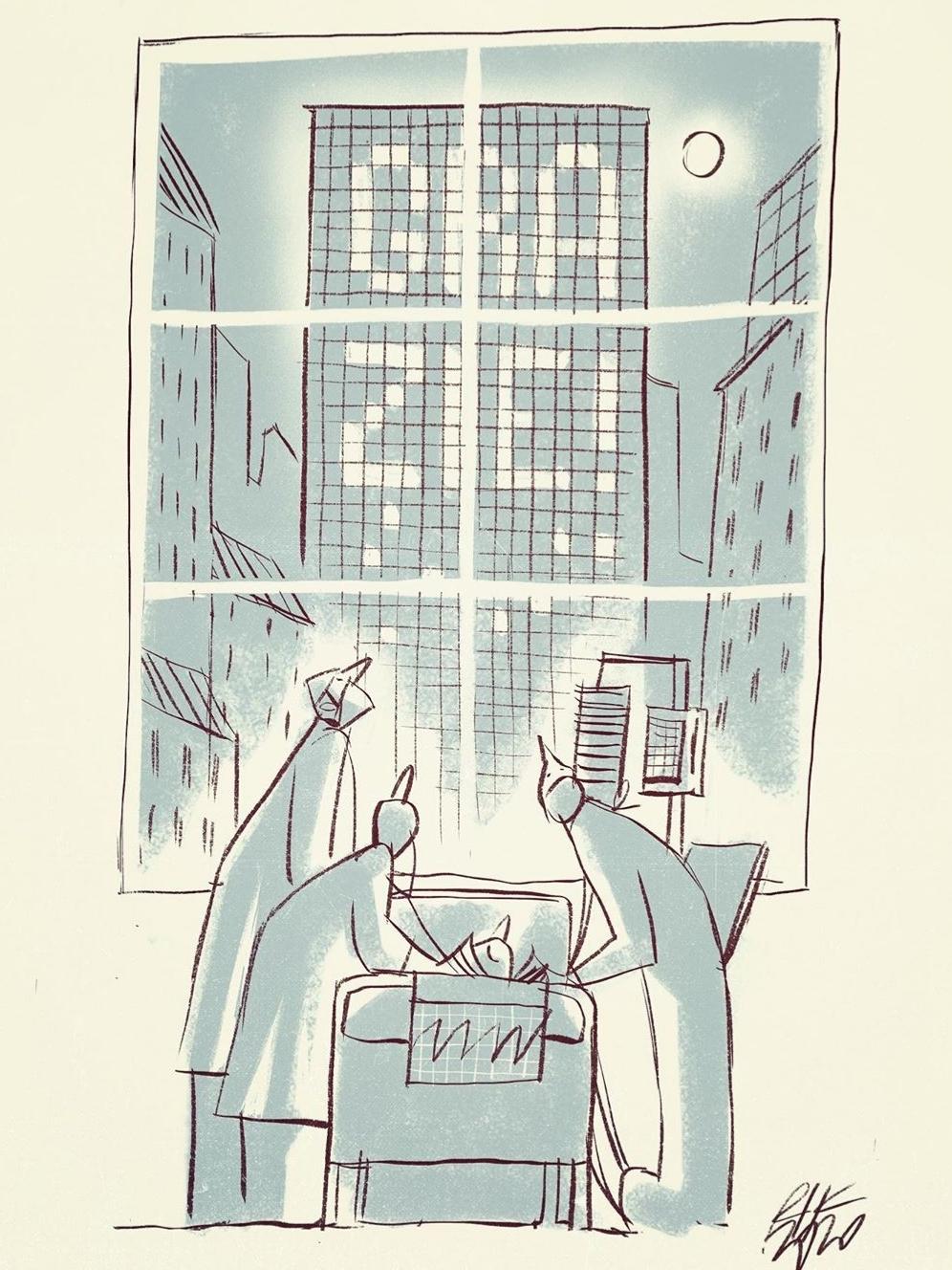 """""""Gracias"""". Ilustrador:  Riccardo Guasco."""