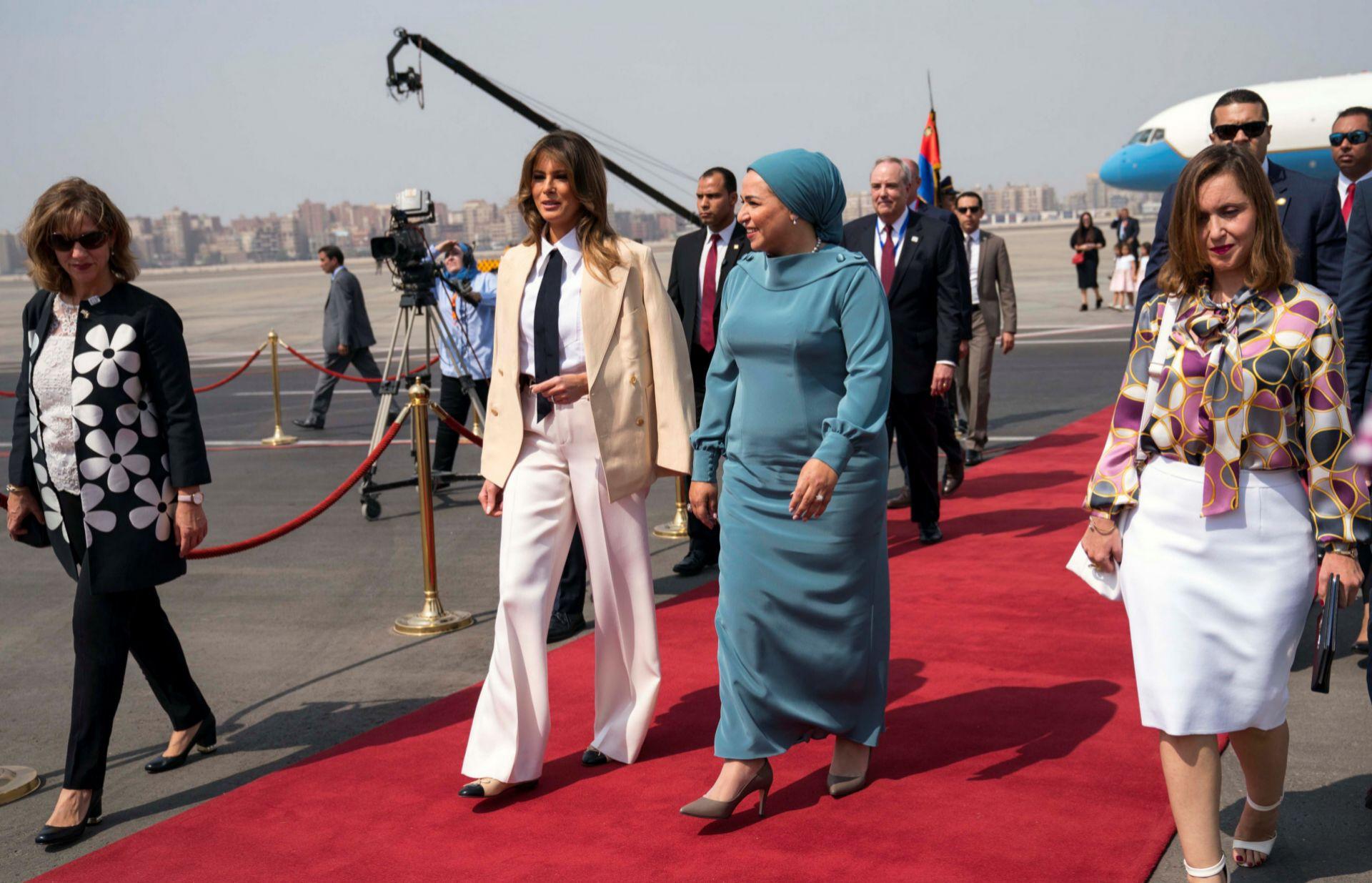 Durante una visita a El Cairo.