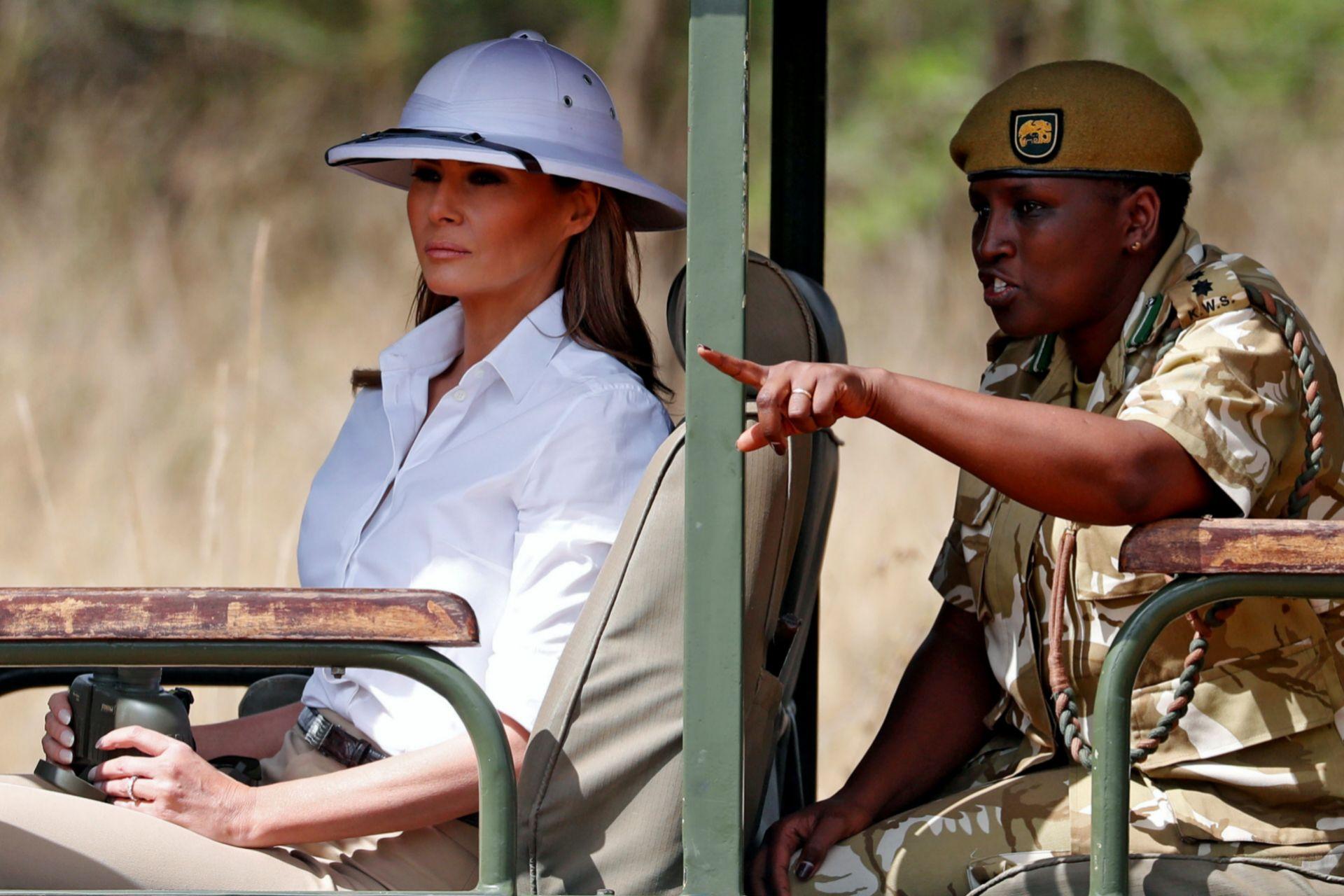 Melania en su visita a Kenia.