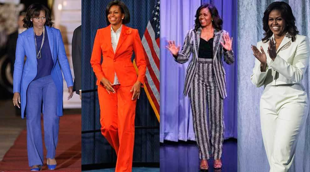 Michelle Obama con varios sastres.