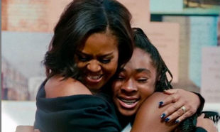 Michelle Obama en una imagen del documental Becoming