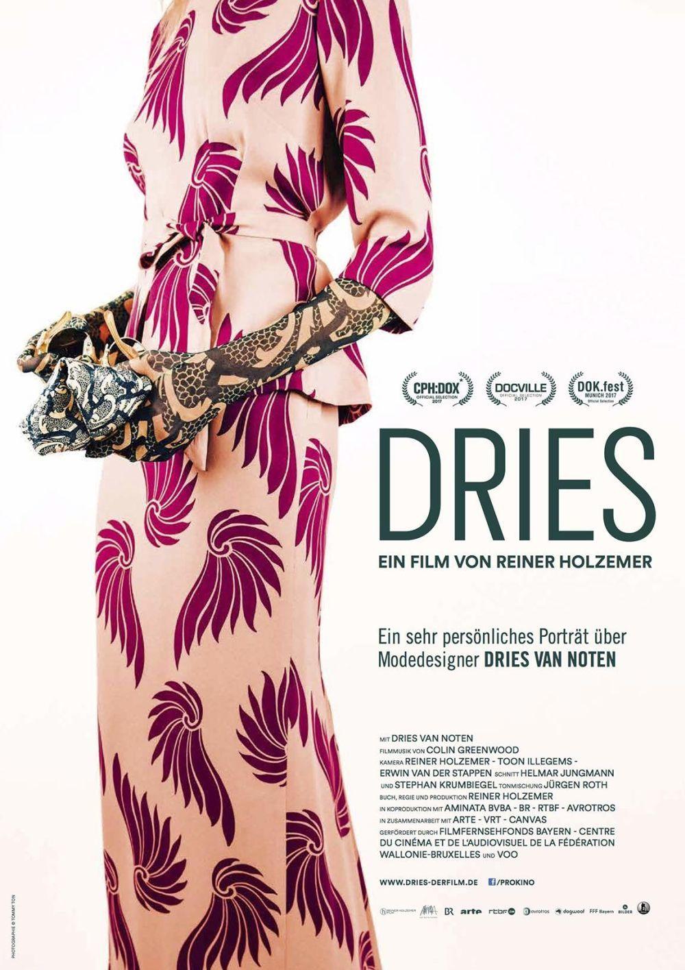 Portada del documental Dries, sobre la vida y obra del diseñador belga.