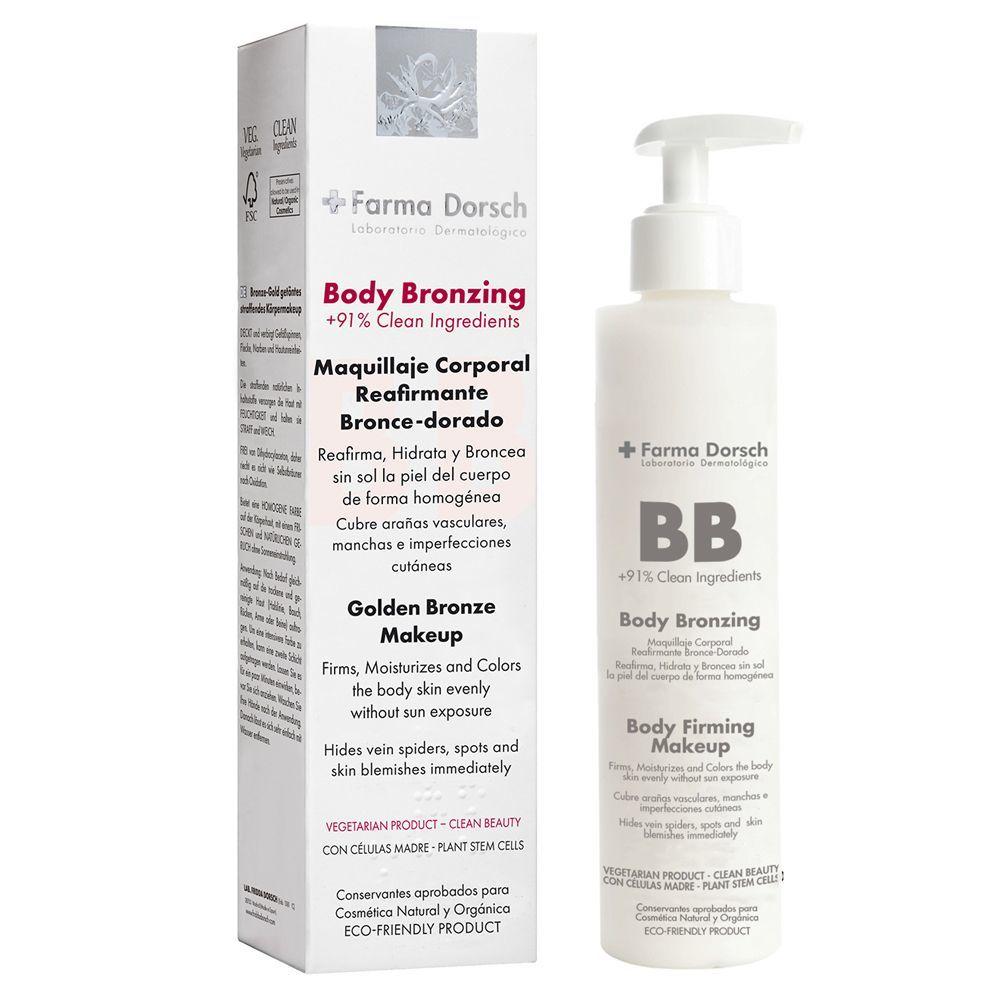 Maquillaje corporal reafirmante Body Bronzing de Farma Dorsch.