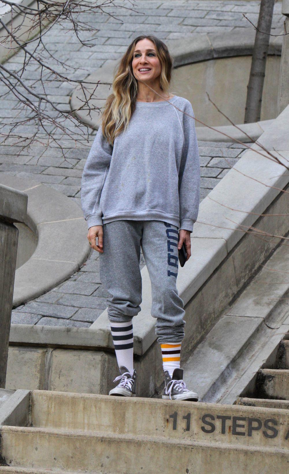 Sarah Jessica Parker con zapatillas Converse