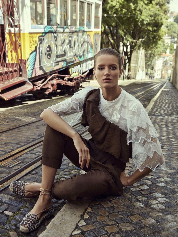 Un editorial de moda de TELVA con uno de sus diseños