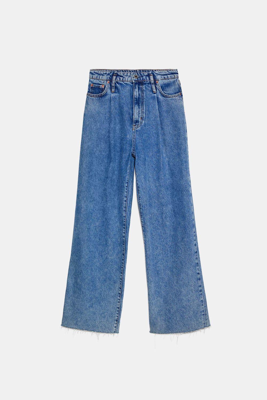 Pantalones vaqueros wide leg, de Zara