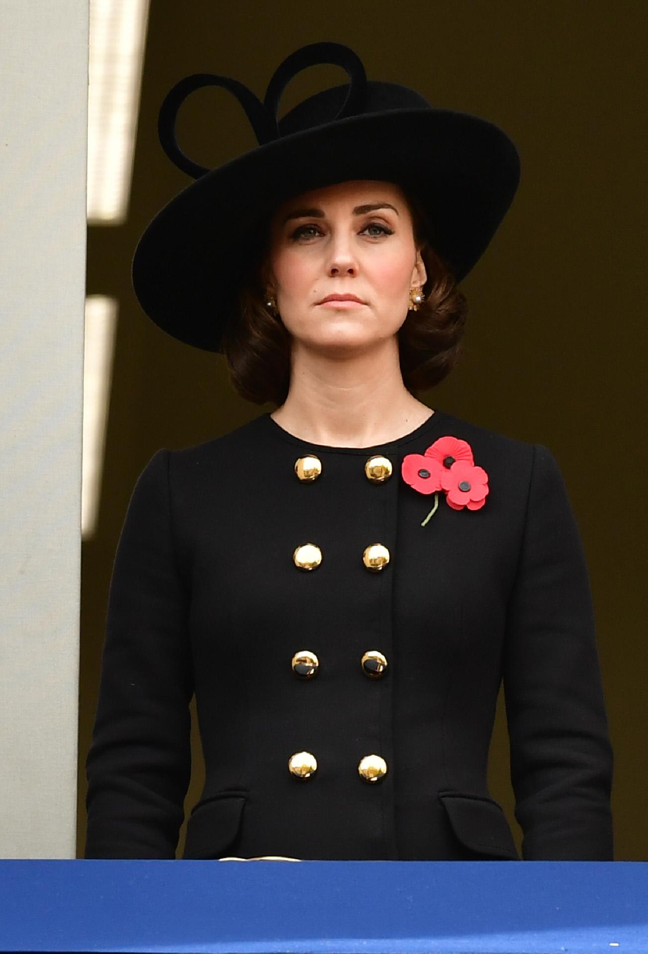 Kate Middleton con el abrigo de Dolce & Gabbana en 2017.