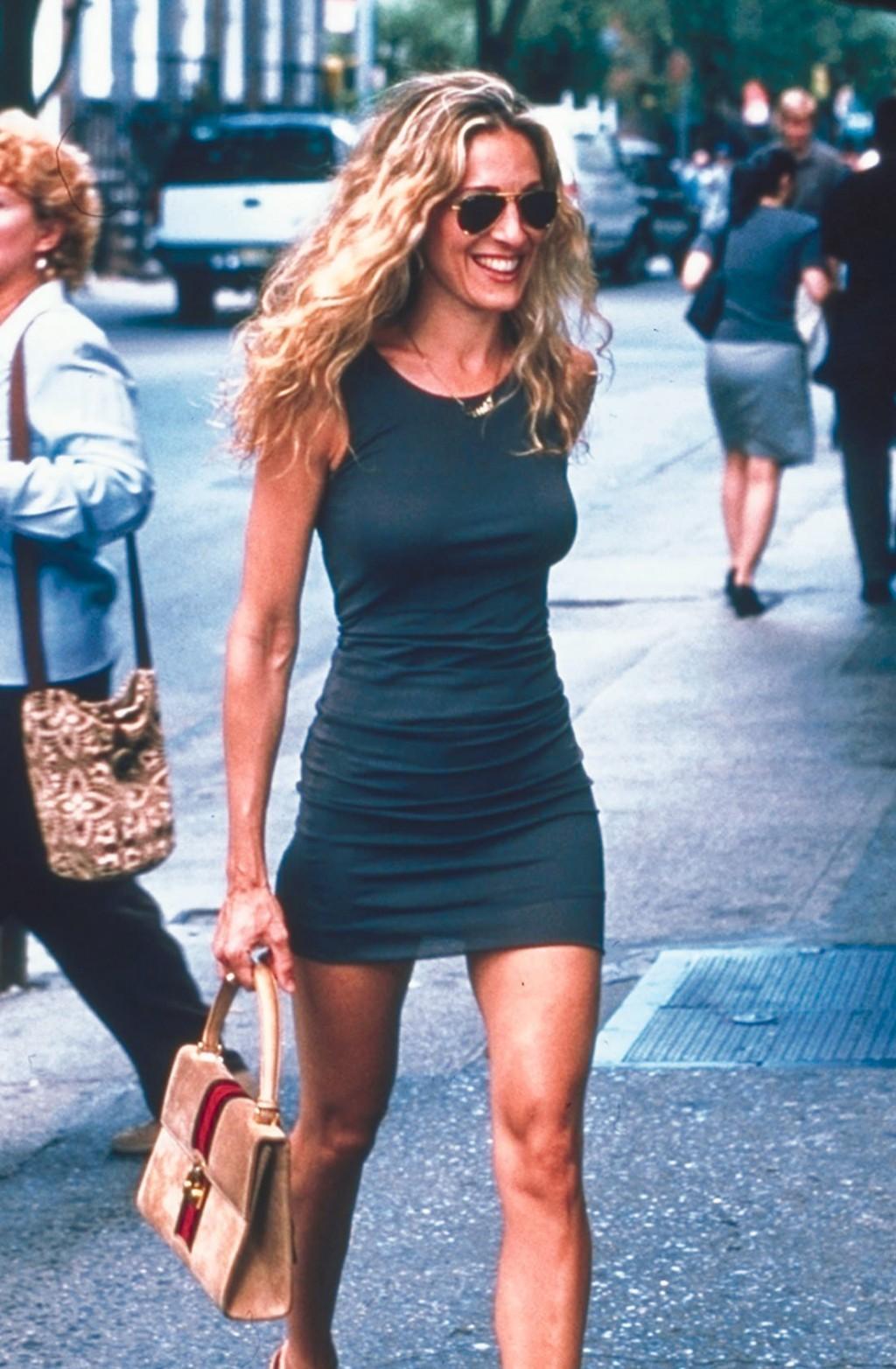 Carrie Bradshaw en un fotograma de Sex and the City