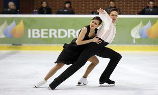 Sara Hurtado y su compañero Kirill Khalyavin.
