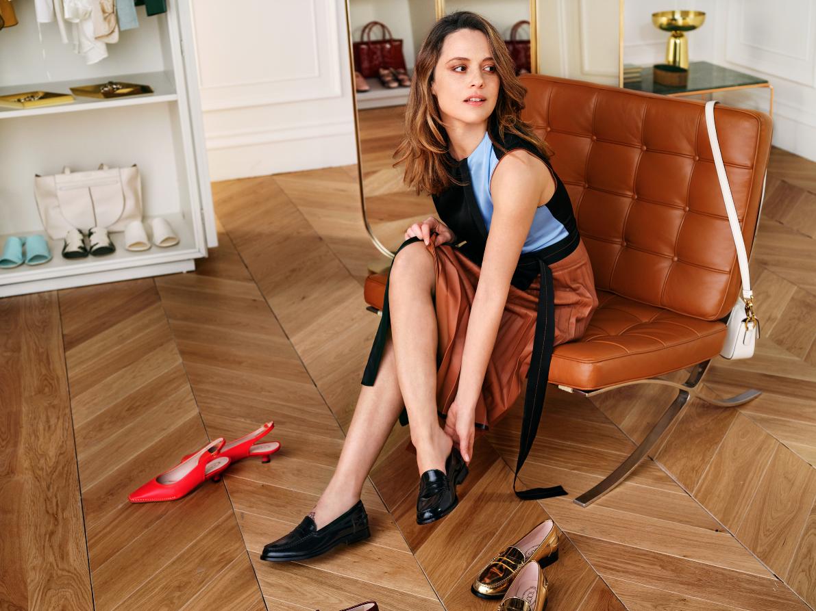 La actriz italiana Valeria Bilello es una de las embajadoras de Tod's...