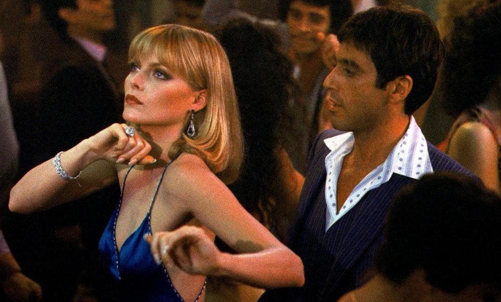 """Michelle Pfeiffer y Al Pacino protagonizan """"Scarface"""", la película de..."""