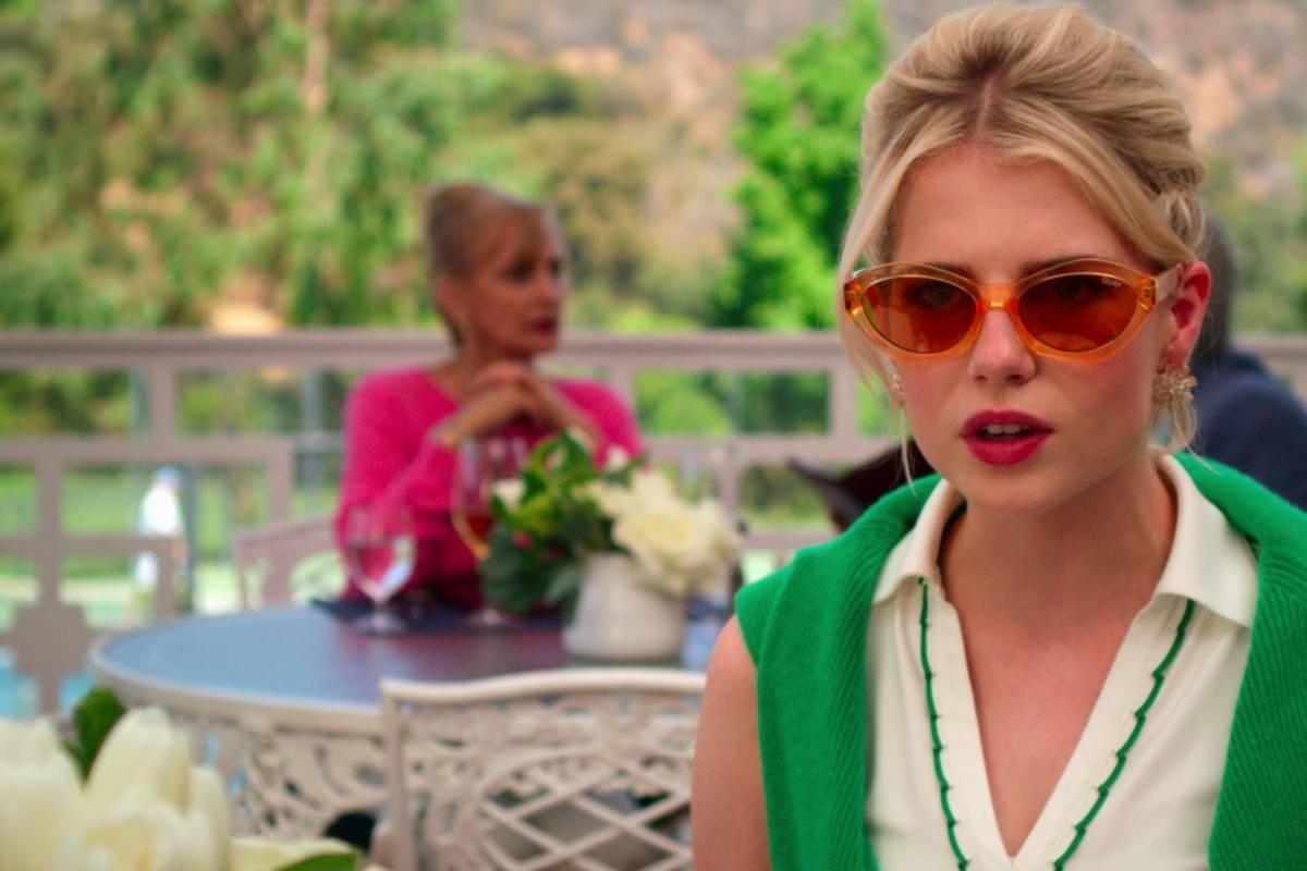 "Lucy Boynton en un fotograma de la serie ""The Politician"", como Astrid."