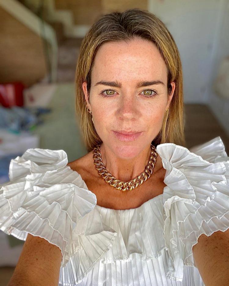 Amelia Bono con vestido de Zara.