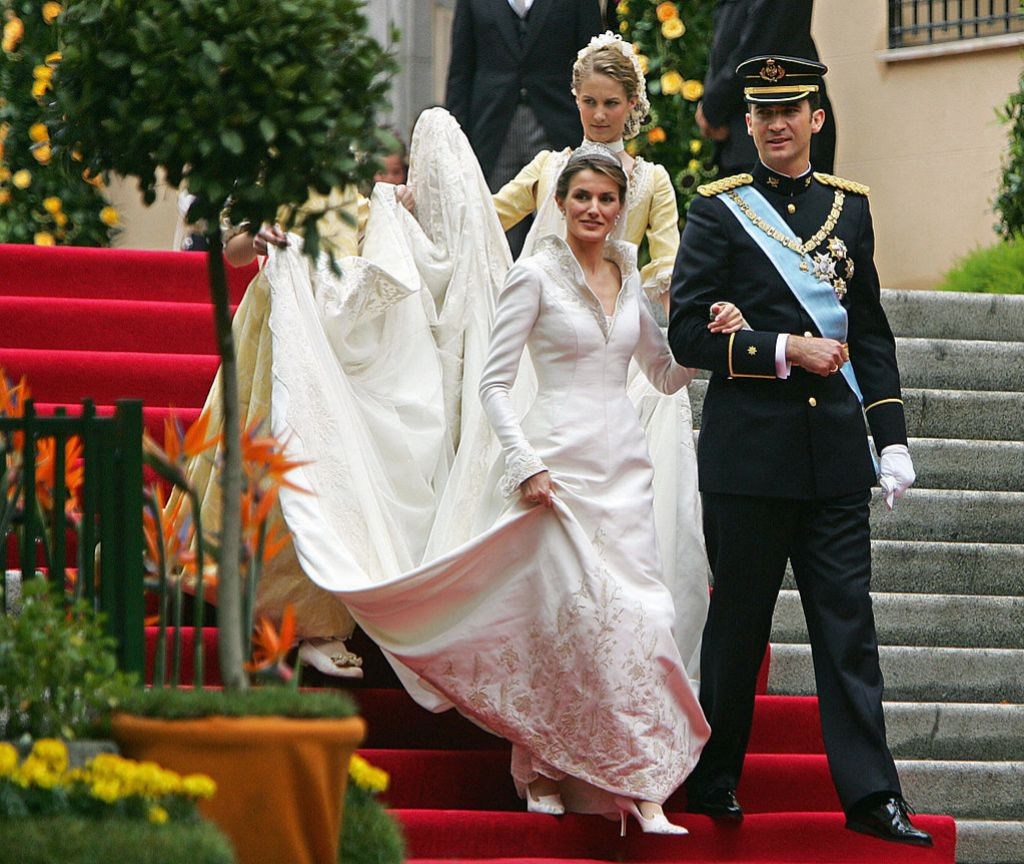 Imagen de los Reyes después de contraer matrimonio.