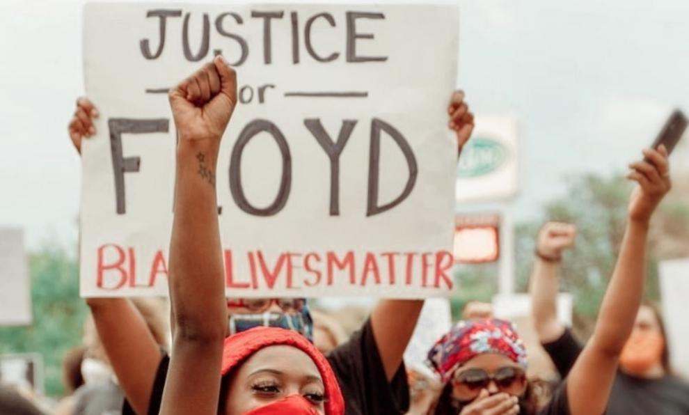 Una de las protestas por la muerte de George Floyd.