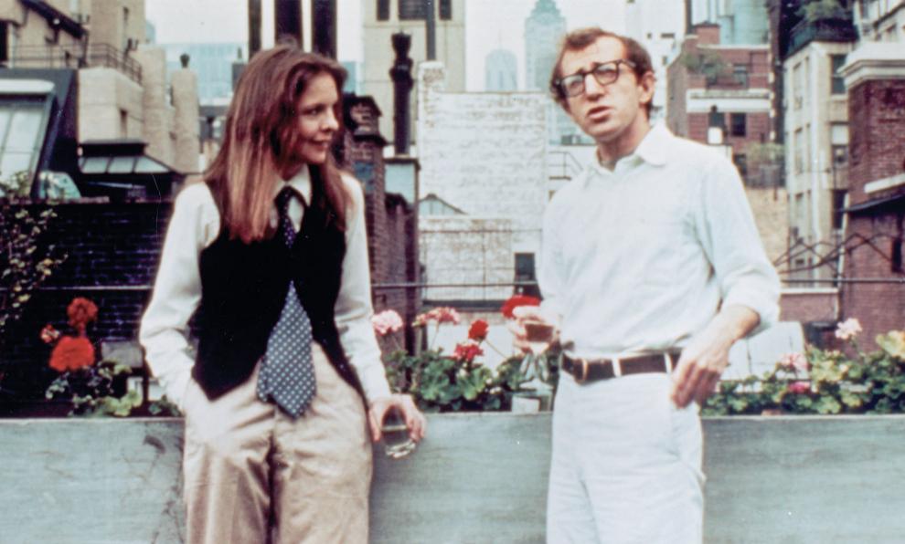 """Woody Allen y Diane Keaton en la famoa escena de """"Annie Hall""""."""