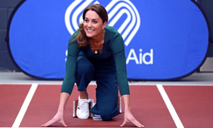 Kate Middleton en zapatillas
