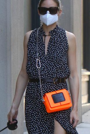 Olivia Palermo sacando a pasear a Mr.Butler por las calles de Nueva...