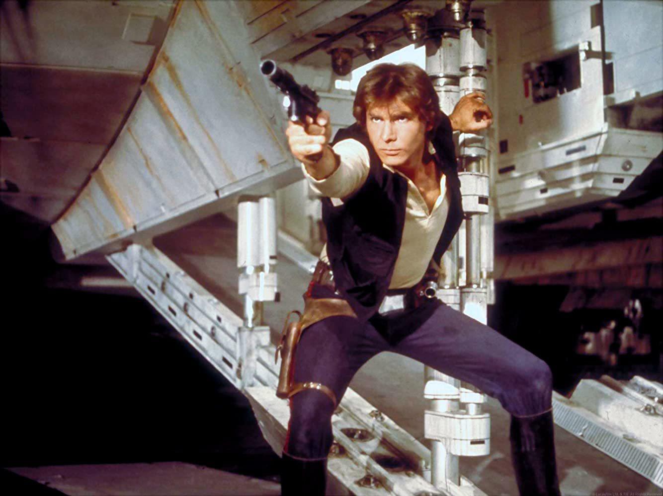 Fotograma de La guerra de las galaxias, con banda sonora original de...