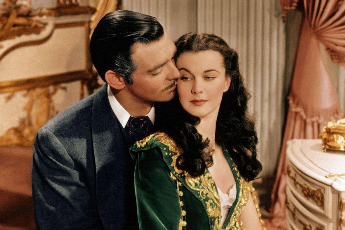 """Clark Gable y Vivien Leigh protagonizan """"Lo que el viento se llevó""""."""