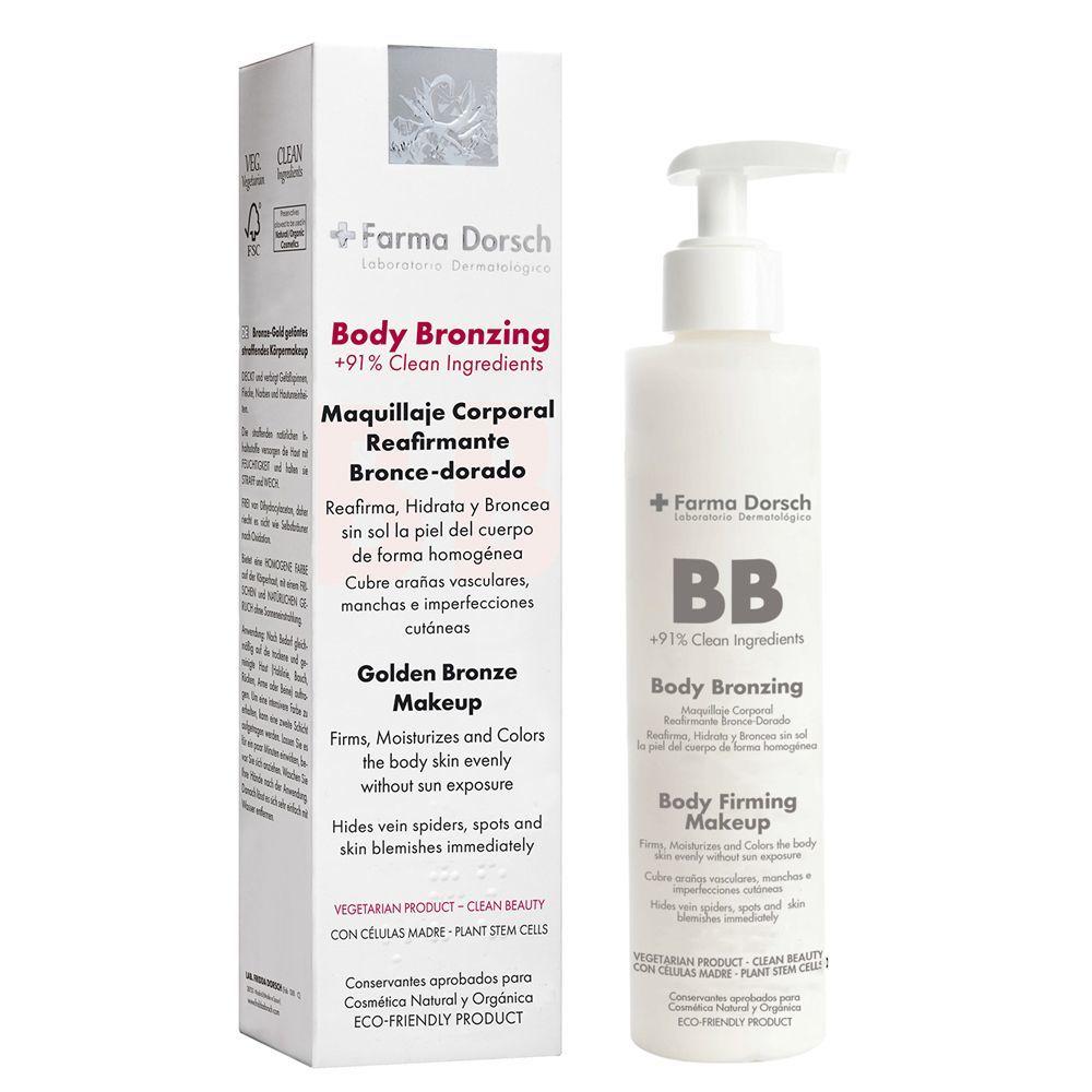 Maquillaje corporal Body Bronzing de  Farma Dorsch.