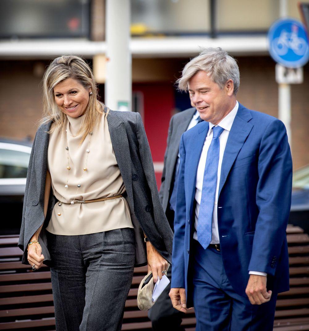 Máxima de Holanda con un look de Inditex.