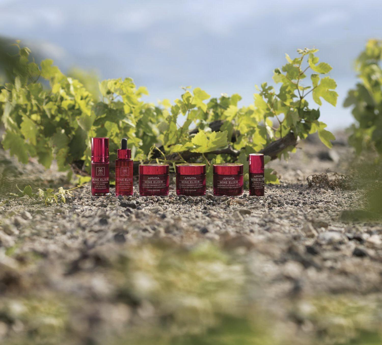 La línea Wine Elixir, Apivita, rica en polifenoles de vid.