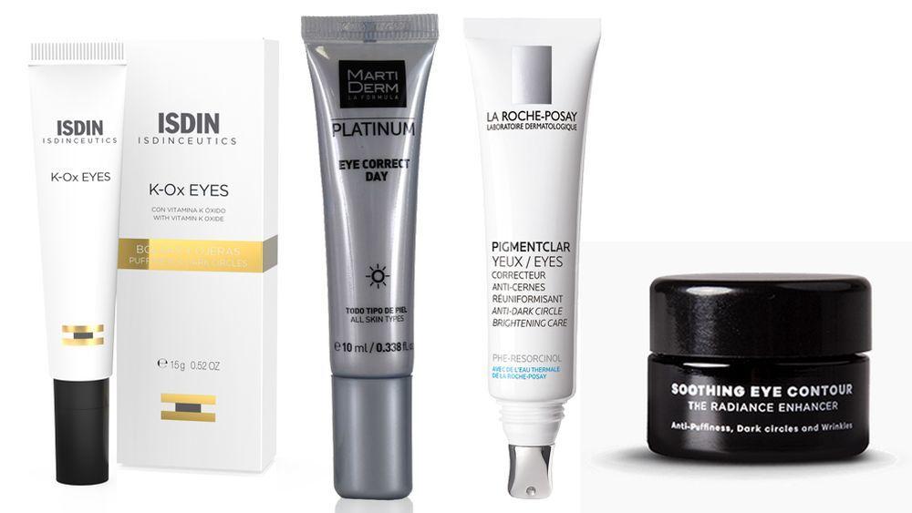 Isdinceutics K-ox Eyes de Isdin; Platinum Eye Correct de Martiderm; Pigment Clair de La Roche Posay, contorno de ojos Skin Perfection de Bluevert.