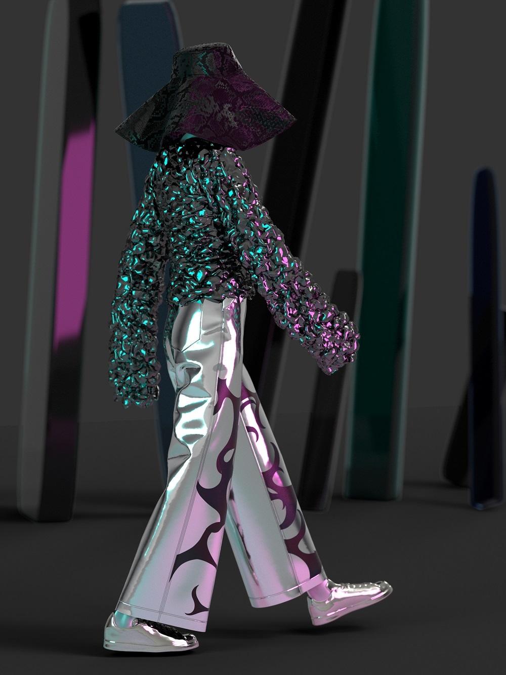 Modelo y ropa virtual en las propuestas de la firma Ophelica.