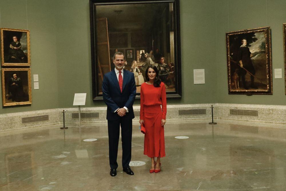 Los Reyes en el Museo del Prado.