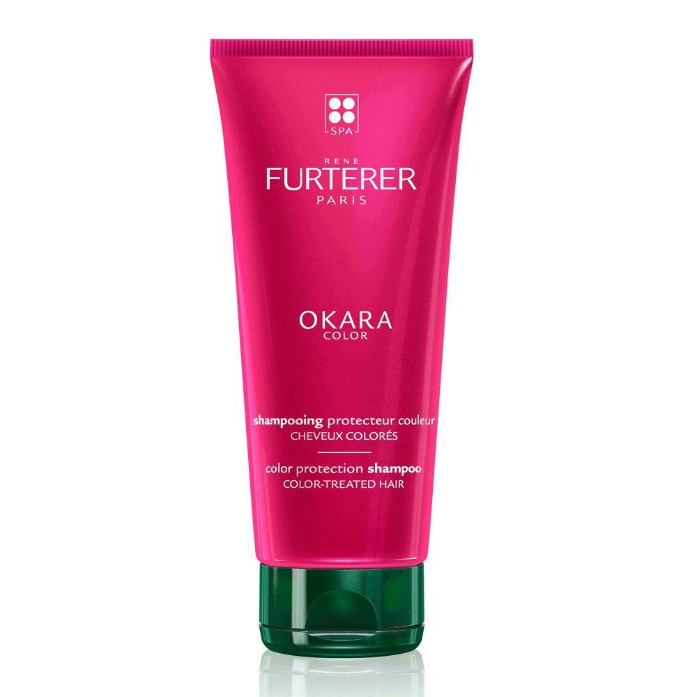 Champú Okara Color de René Furterer (16,10 euros) para proteger y prolongar el brillo del pelo teñido, sin sulfatos ni siliconas. En farmacias.