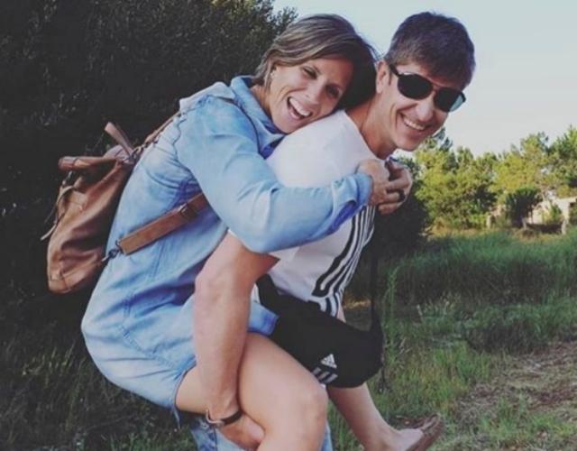 Teresa Portela junto a su marido el también piragüista David Mascató.