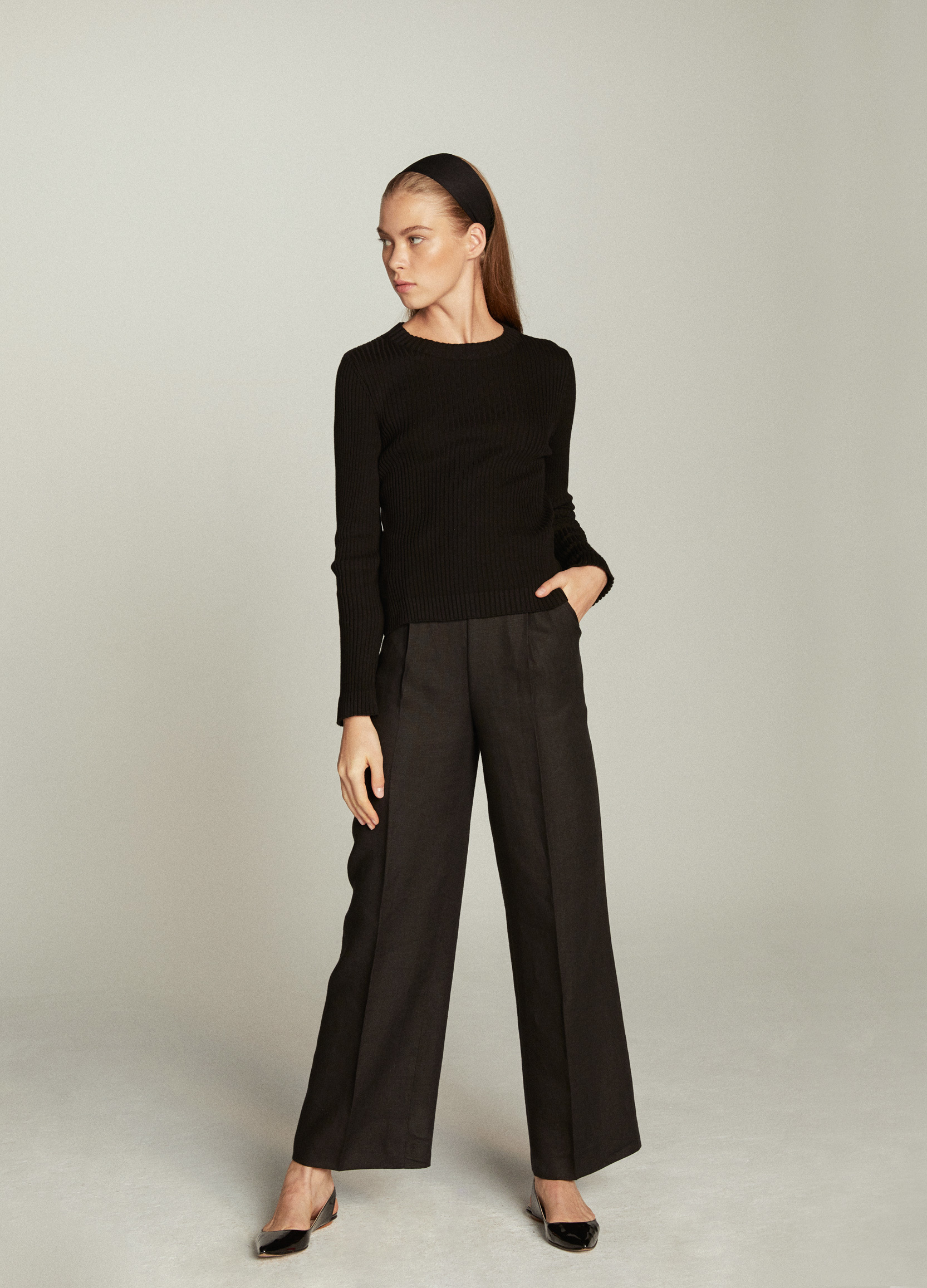 Pantalón negro de Kolonaki Madrid.